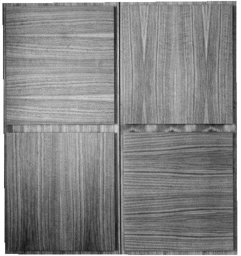 Стеновые панели из дерева из четырех небольших квадратов